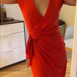 ARK & CO - Red side ruffle mini dress